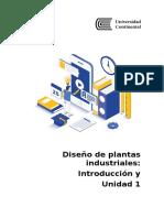 GUÍA DE APRENDIZAJE UNIDAD 1 - Diseño de Plantas Industriales