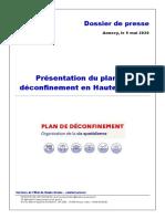 Présentation du plan de déconfinement en Haute-savoie