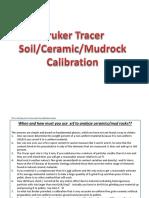 Soil Ceramic-Mudrock  analysis Tracer cal