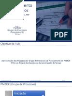 GP_Aula_06 PMBOK Processos Planejamento_Tempo