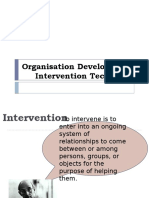 OD INTERVENTION TECHNIQUES
