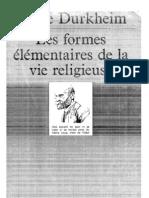 Durkheim. Formes Elementaires 1960