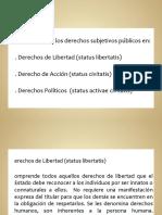 Clasificación de los derechos subjetivos de Jellinek y Roguin