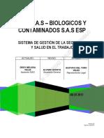 Sistema de Gestión SST Biológicos