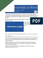 Bienvenido a Word 4