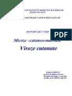 4. Micoze Viroze Cutanate
