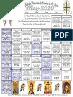 2020 May Festal Calendar