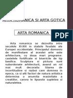 ARTA ROMANICA SI ARTA GOTICA