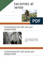 Afectaciones al ambiente