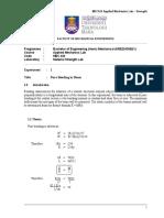 Lab Sheet Experiment 1-Strength