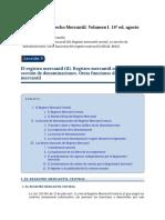 R9-El registro mercantil II. Registro mercantil central. La seccion de denominaciones. Otras funciones del registro mercantil