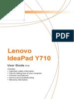 Lenovo Y710 User Guide