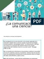 Comunicación como ciencia