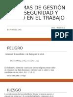 SISTEMAS DE GESTIÓN DE SEGURIDAD Y SALUD EN TRABAJO