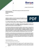Carta - Proveedores de transporte - Arequipa