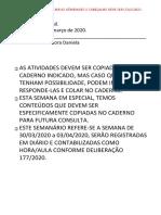 SUGESTÃO DE ATIVIDADES 4º ANO