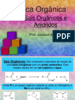 Química Orgânica - Sais Orgânicos e Anidridos