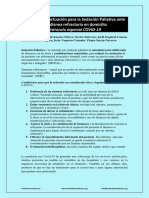 Protocolo de Actuación para Sedación Paliativa en caso de Síntoma Refractario V2.0