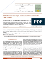 Public Debt and Stability in Economic Growth - Evidence for Latin America