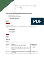 Cuestionario de electrobtencion y electrorefinacion del cobre