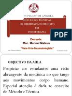 AVALIAÇAO POSTURAL-METODOS E TECNICAS DE REGISTO