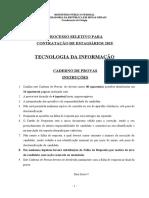 Caderno de provas TI 01.01