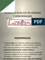 PRIMEROS AUXILIOS EN HERIDAS Y HEMORRAGIAS