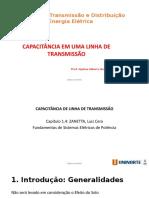 2 - Transmissão e Distribuição de Energia Elétrica - Capacitância em uma linha de transmissão