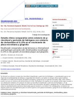 Estudio clínico comparativo entre colutorio de p-clorofenol y peróxido de hidrógeno con colutorio de