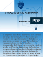 Financas aula 1- papel do estado na ecoomia