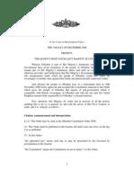 Constitution Gibraltar Order 2006