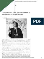I cicli Saturno-Urano, Saturno-Nettuno e il testamento di André Barbault
