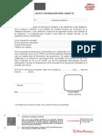 FORMATO RECOLECCIÓN DE DATOS Y AUTORIZACIÓN PARA CONTACTO