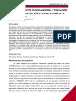 VINCULACION ENTRE ESCUELA NORMAL Y EDUCACIÓN BASICA EN  CAPACITACIÓN ACADÉMICA USANDO TIC