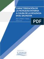 Caracterización de la movilidad interna a causa de la violencia en El Salvador