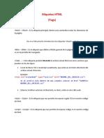 Anexo etiquetas HTML