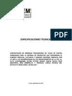ESPECIFICACIONES cotizacion TÉCNICAS CAJAS DE CARTON