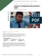 Asesinan e incineran a integrante del partido Farc en Bello, Antioquia