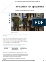 Por escándalo en el Ejército sale agregado militar en Washington