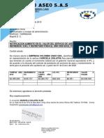 carta AUMENTO SALARIO2020 ASEO