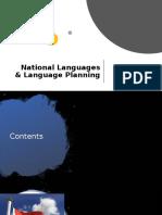 National Languages & Language Planning