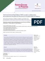 Nutrición Enteral Domiciliaria (NED) en niños y adolescentes.