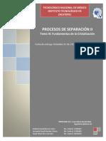 Fundamentos de la Cristalización.