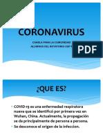 CORONAVIRUS COMUNIDAD