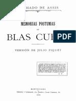De Assis - Piquet - 1902 - Memorias postumas de Blas Cubas (1).pdf