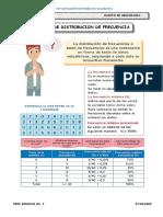 TABLAS DE FRECUENCIA 4TO SEC