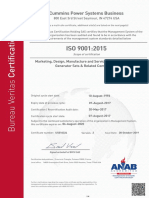 Cummins Power Systems - ANAB - Certificate - 28Oct2019