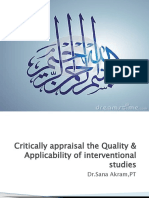 Critical Appraisal the Applicability