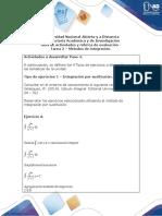 Guía de actividades y rúbrica de evaluación - Tarea 2 - Métodos de integración (2)