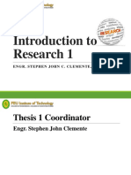 1 Introduction to Research 1